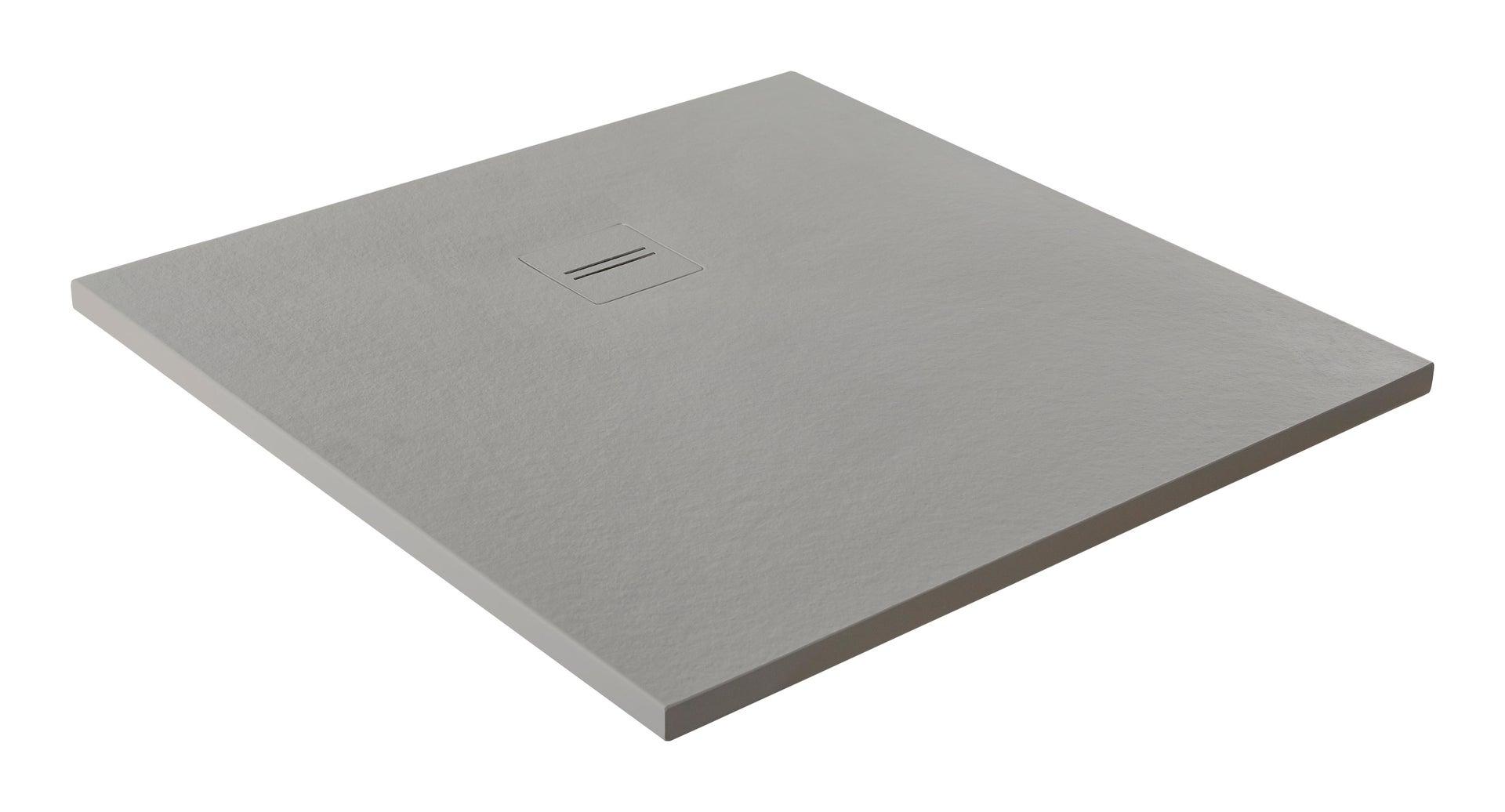 Piatto doccia ultrasottile resina Cosmos Stone 100 x 120 cm nero - 1