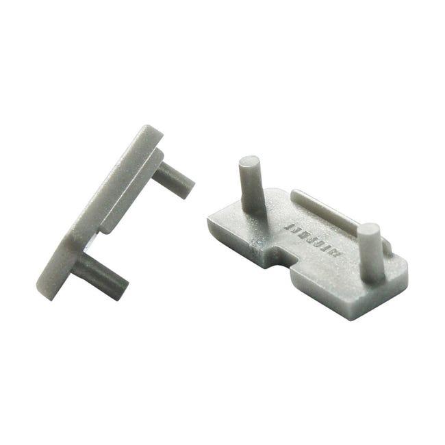 Tappo per profilo incasso, grigio / argento, - 1