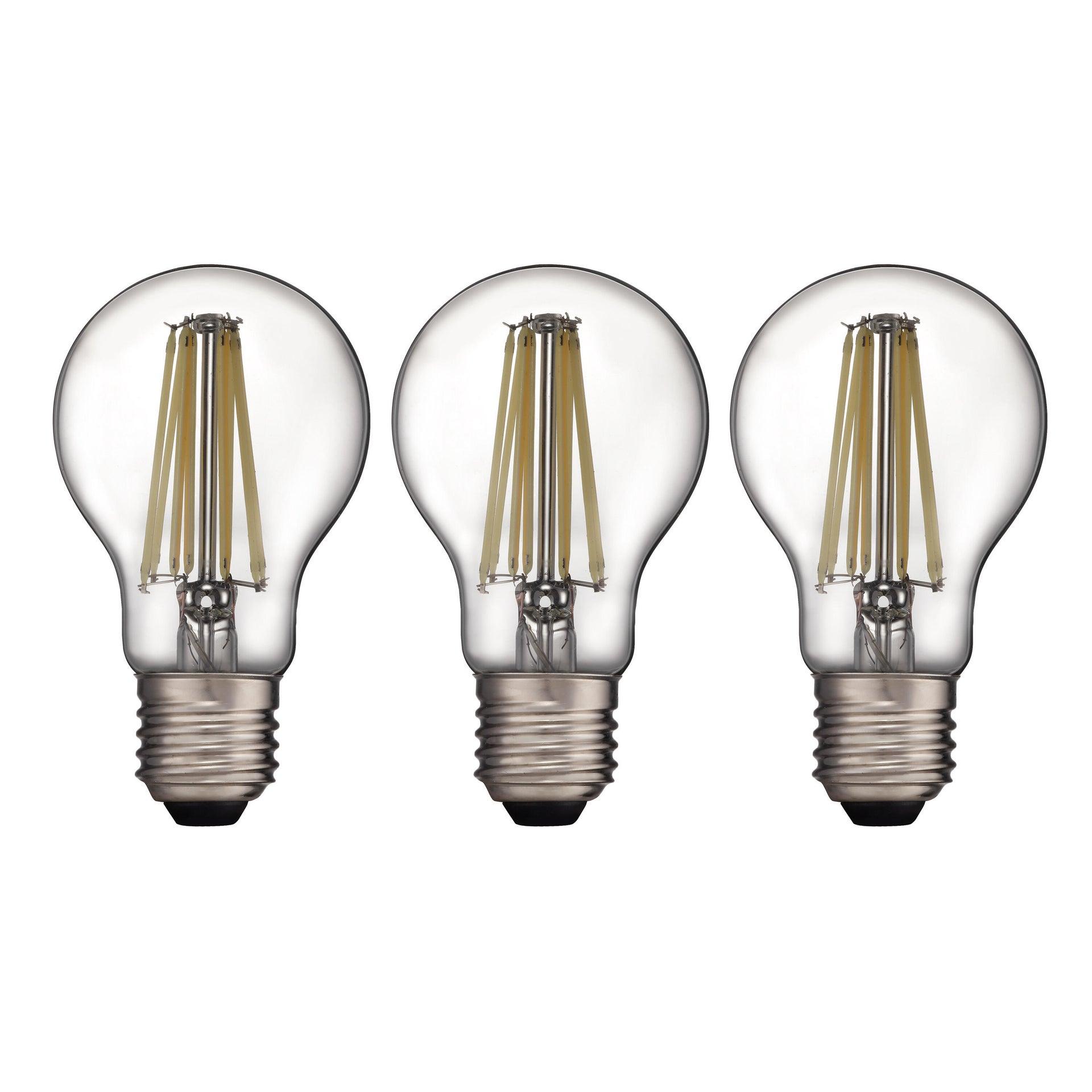 Set di 3 lampadine LED filamento, E27, Goccia, Trasparente, Luce naturale, 12W=1521LM (equiv 100 W), 360° , LEXMAN - 7