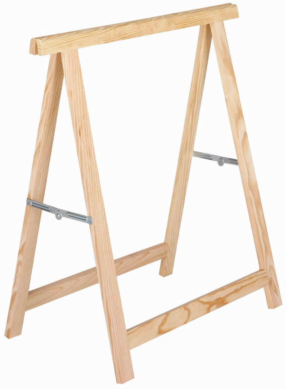 Cavalletto in pino Standard L 73.5 x P 73.5 x H 74 cm legno naturale - 1