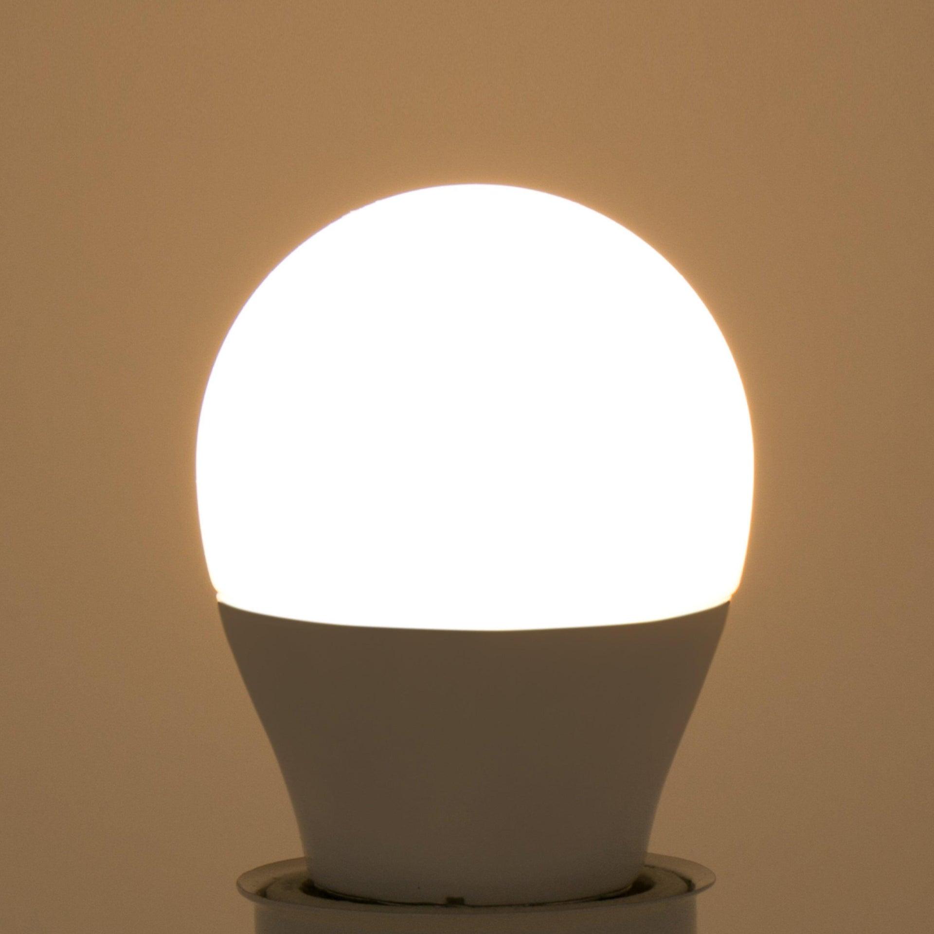 Lampadina LED, E27, Sferico, Smerigliato, Luce calda, 8W=806LM (equiv 60 W), 220° , LEXMAN - 5