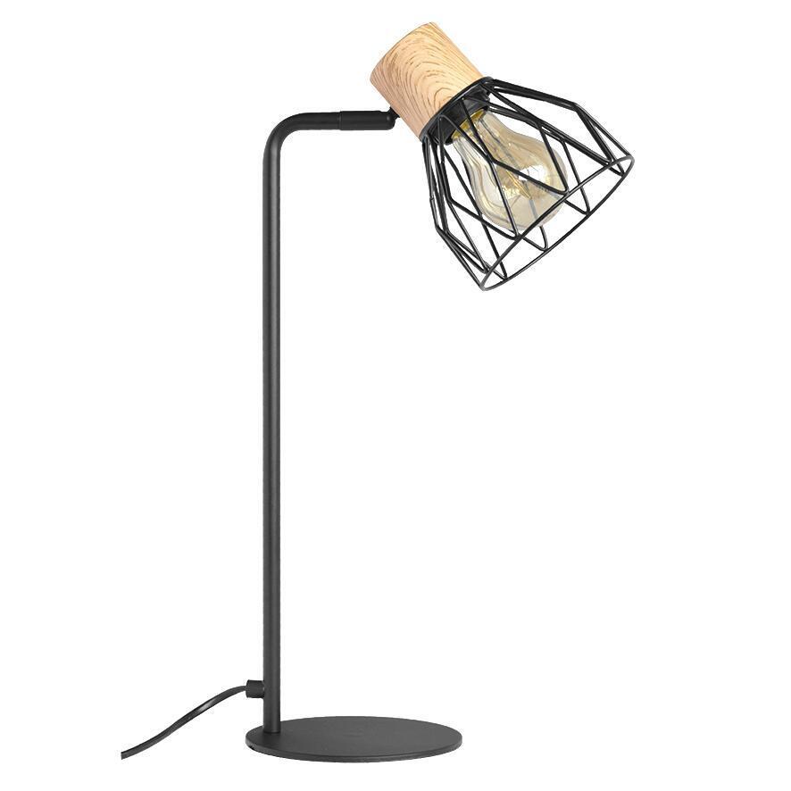 Lampada da tavolo Scandinavo Clayton nero , in legno, SEYNAVE - 4