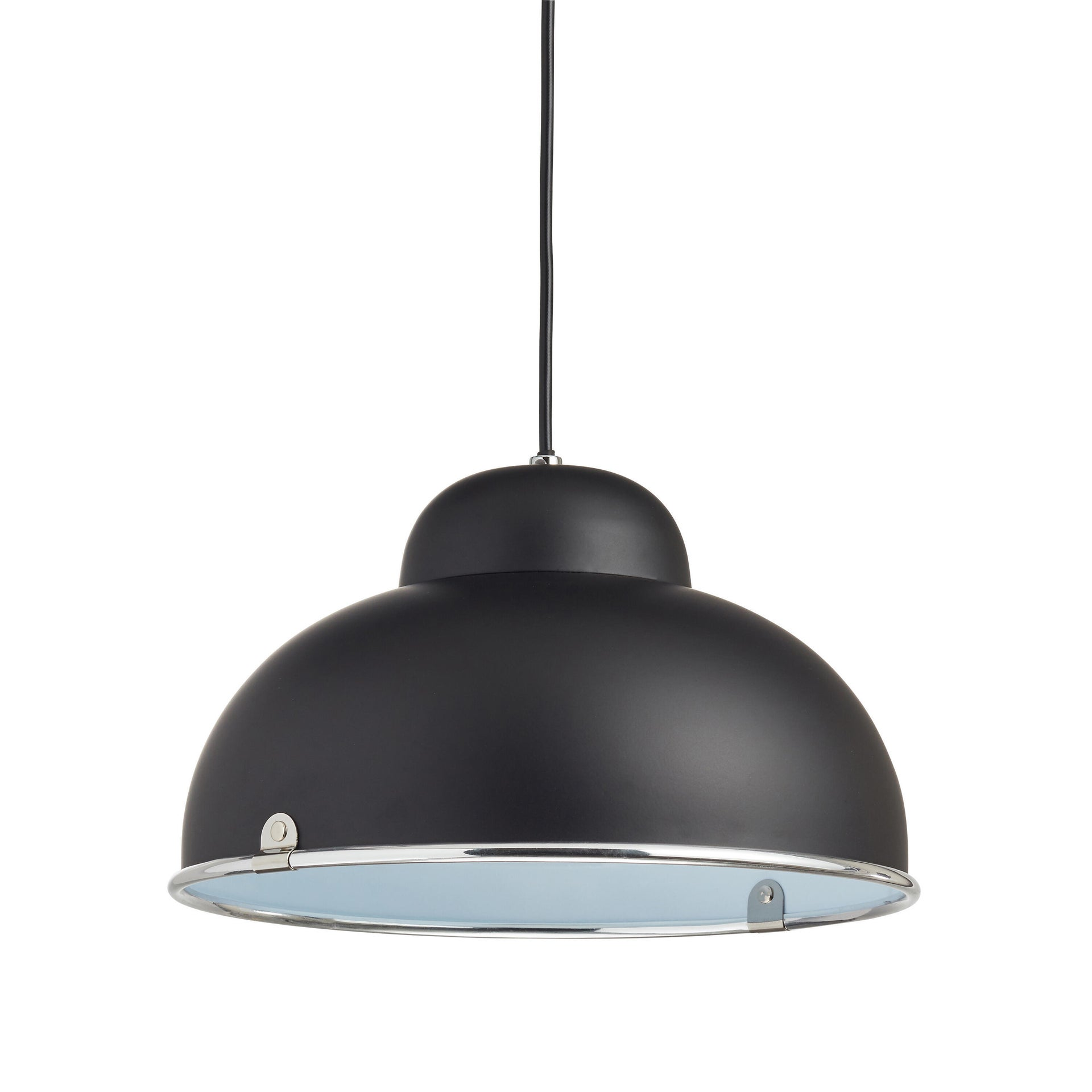 Lampadario Industriale Farell nero in metallo, D. 31 cm, INSPIRE - 3