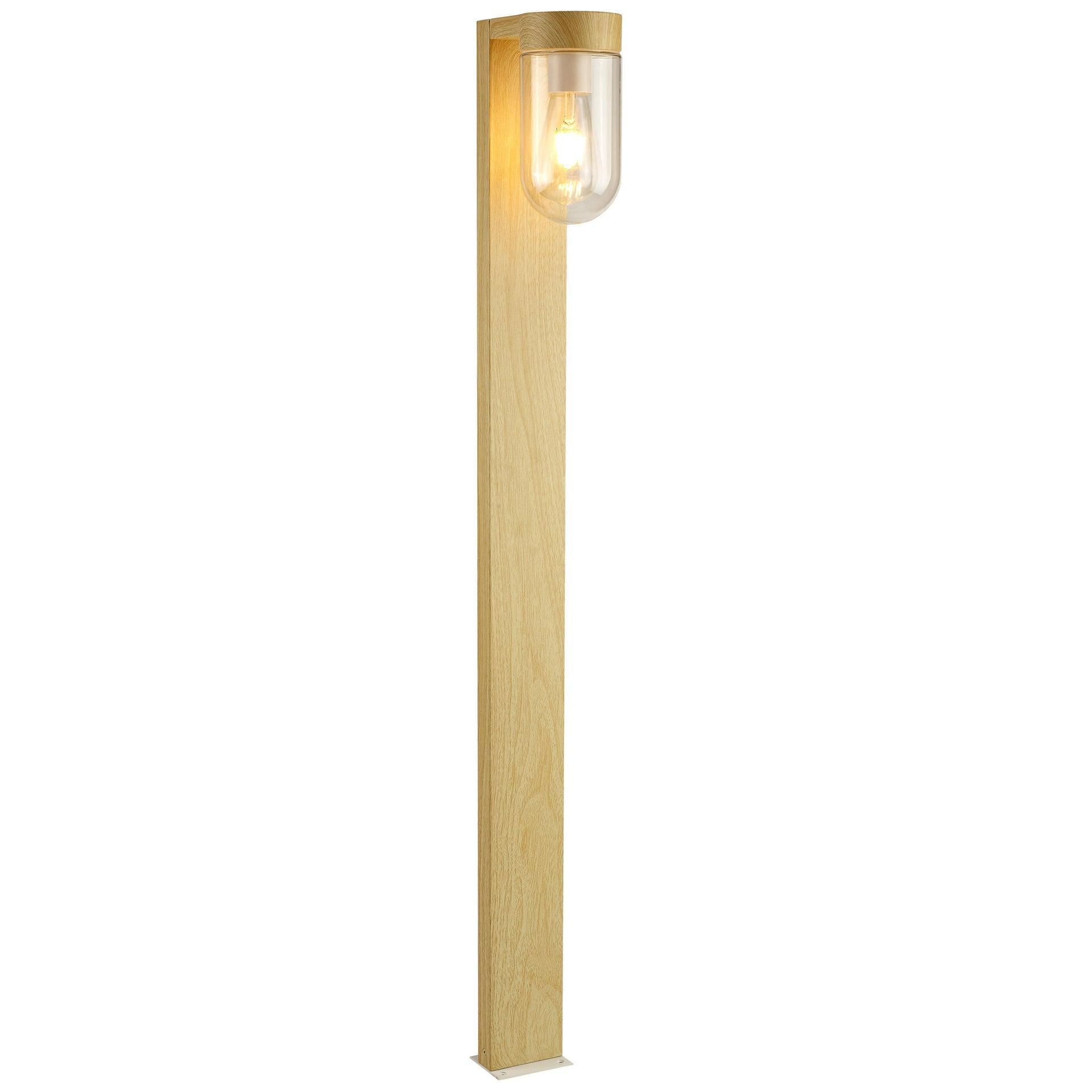 Lampione Cabar H110 cm in metallo, faggio, E27 1x MAX 40W IP44 BRILLIANT - 2