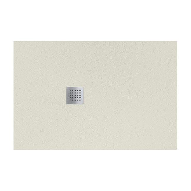 Piatto doccia resina Strato 180 x 100 cm crema - 1
