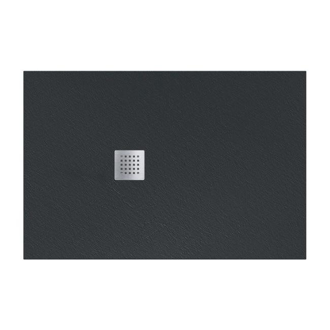 Piatto doccia resina Strato 180 x 100 cm nero - 1
