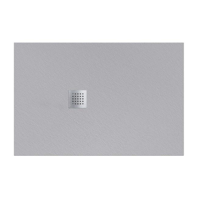 Piatto doccia resina Strato 180 x 80 cm grigio - 1