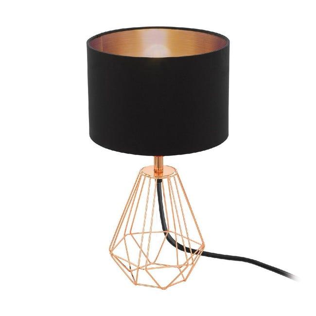 Lampada da comodino Design Carlton 2 nero , in tela, EGLO - 1