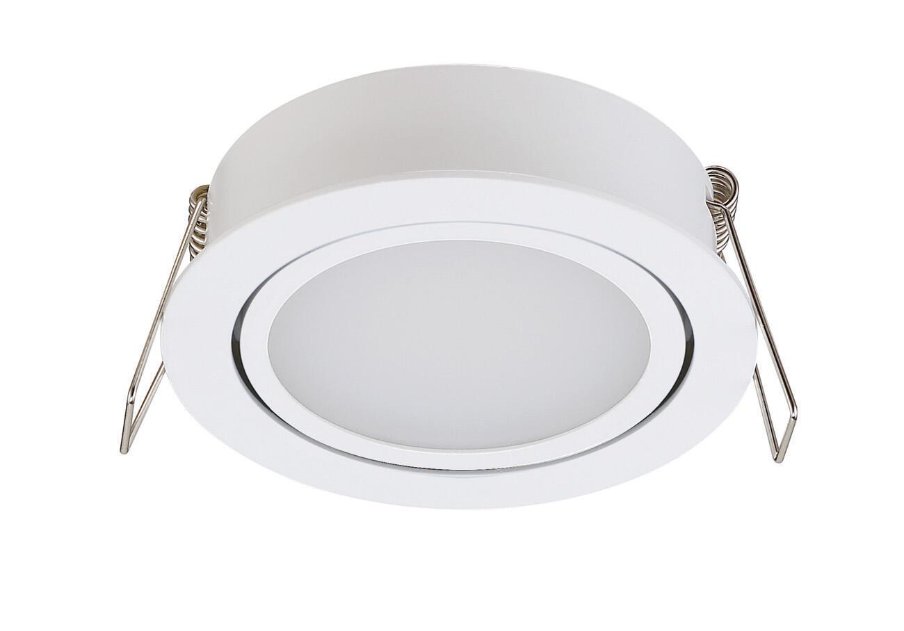Faretto orientabile da incasso tondo Lindi in Alluminio bianco, diam. 9 cm LED integrato 500LM IP65 INSPIRE - 3