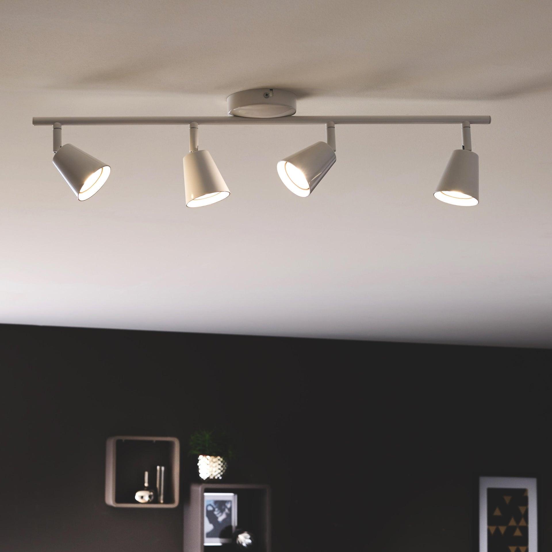 Barra di faretti Chapo bianco, in metallo, LED integrato 3.5W 1120LM IP20 INSPIRE - 5