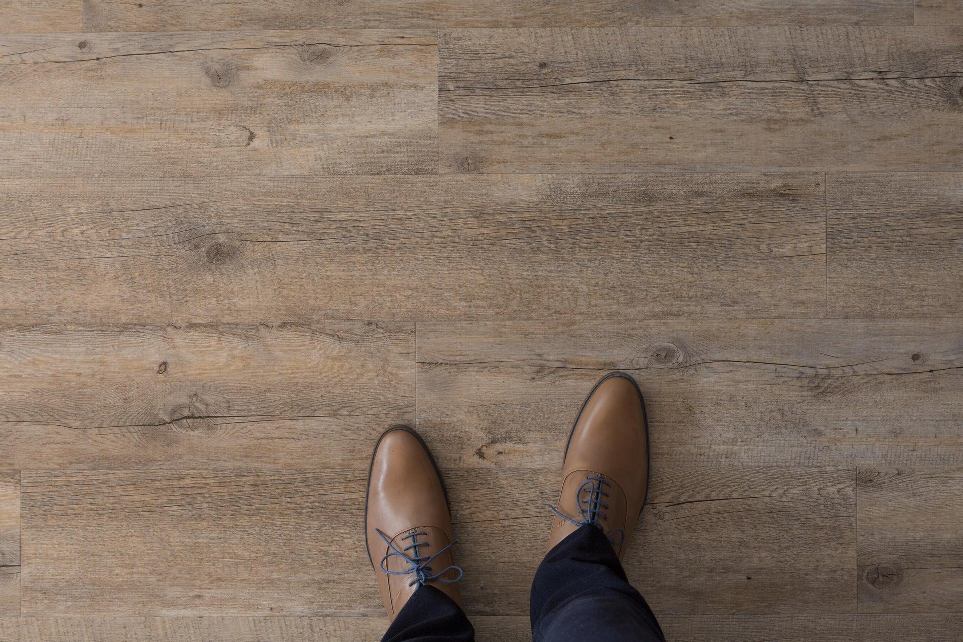 Pavimento PVC flottante clic+ Pecan Sp 4.5 mm grigio / argento - 2