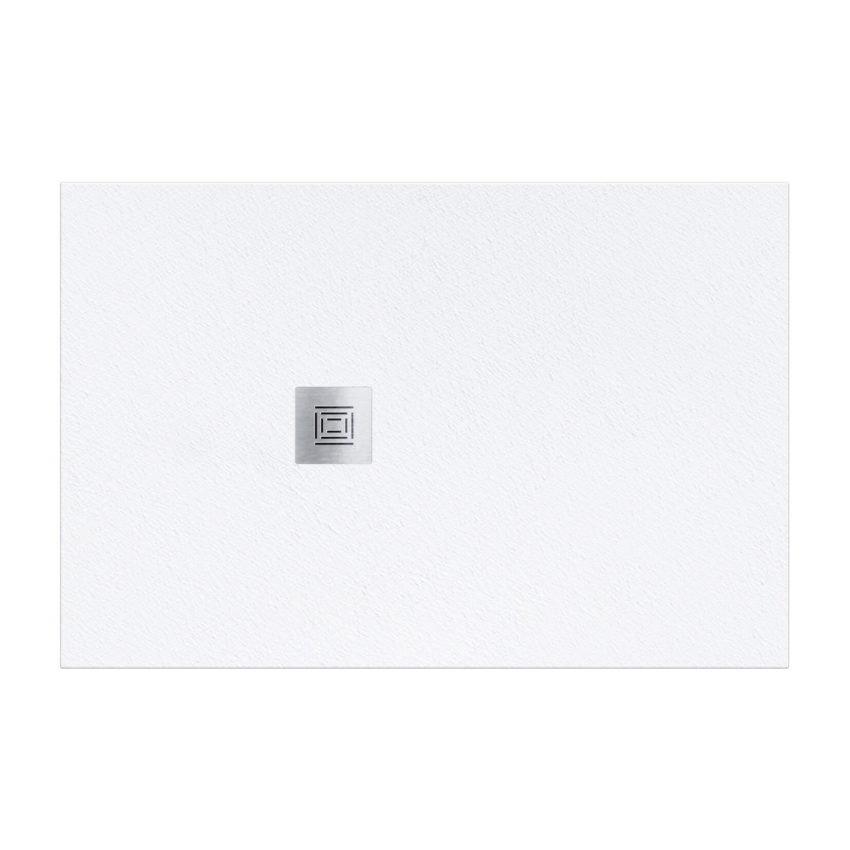Piatto doccia resina Logic 80 x 100 cm bianco - 2