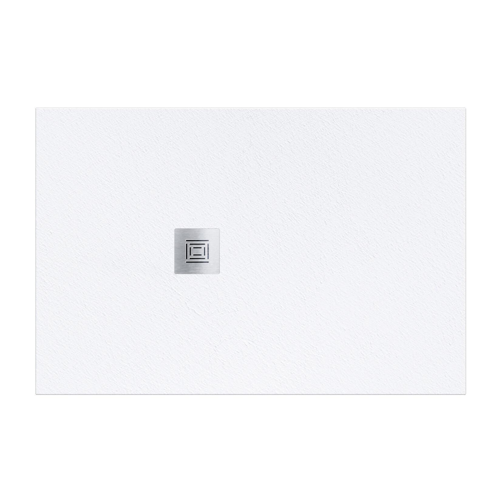 Piatto doccia resina Logic 70 x 120 cm bianco - 1