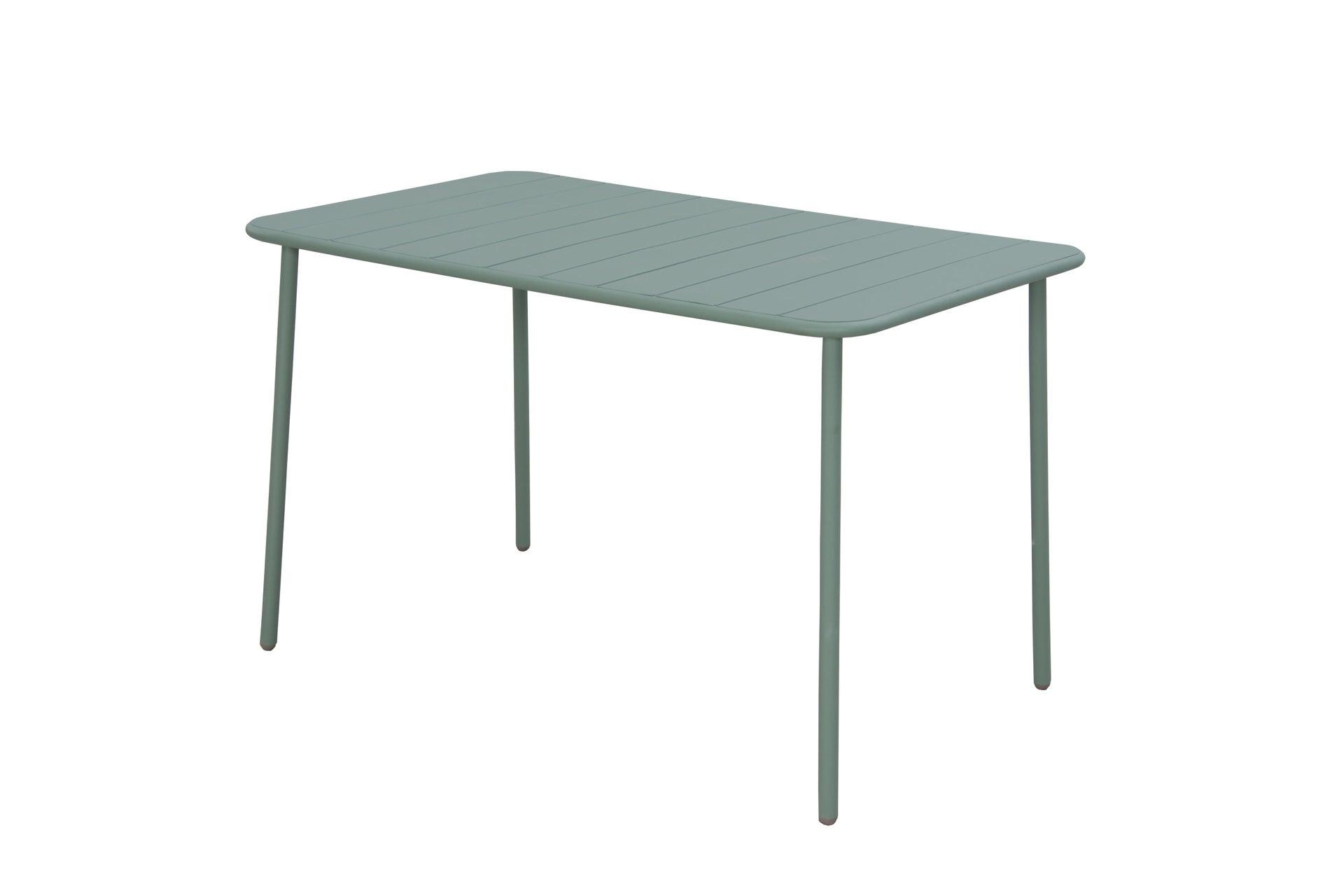 Tavolo da giardino rettangolare Cafe con piano in metallo L 70 x P 120 cm - 8