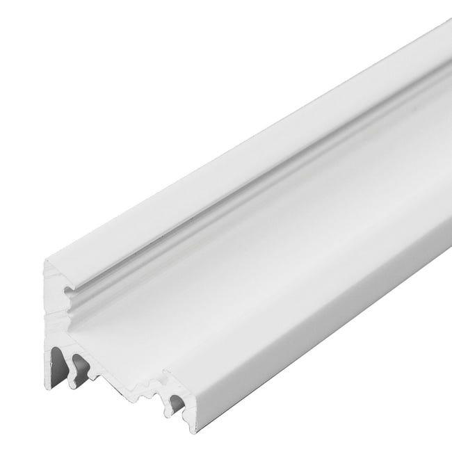 Profilo per strisce led, bianco, 2 m - 1