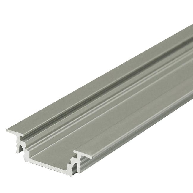 Profilo per strisce led, grigio / argento, 2 m - 1