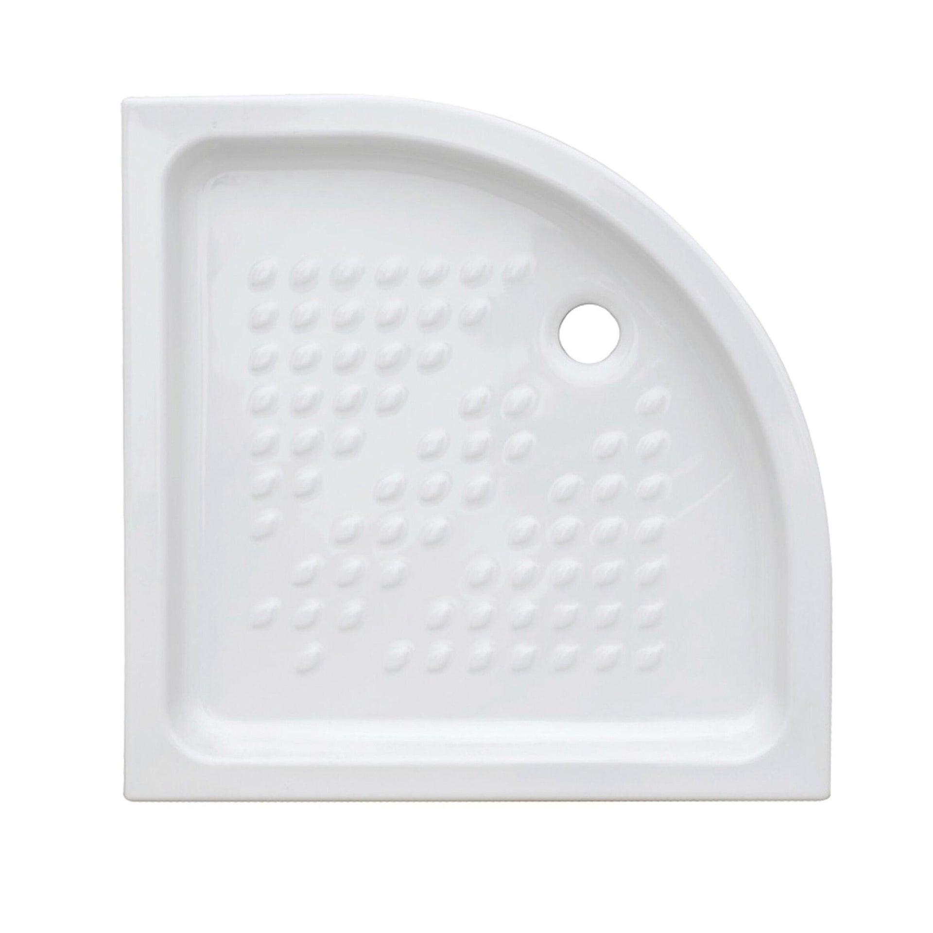 Piatto doccia ceramica Quadro 80 x 80 cm bianco