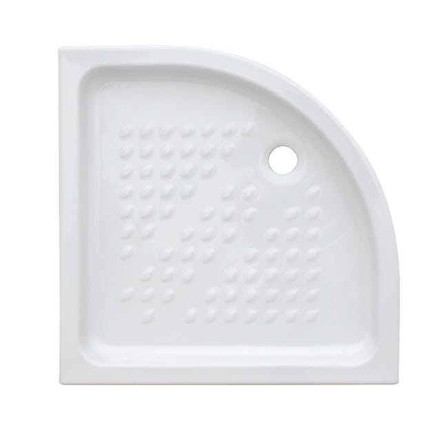 Piatto doccia ceramica Quadro 80 x 80 cm bianco - 1