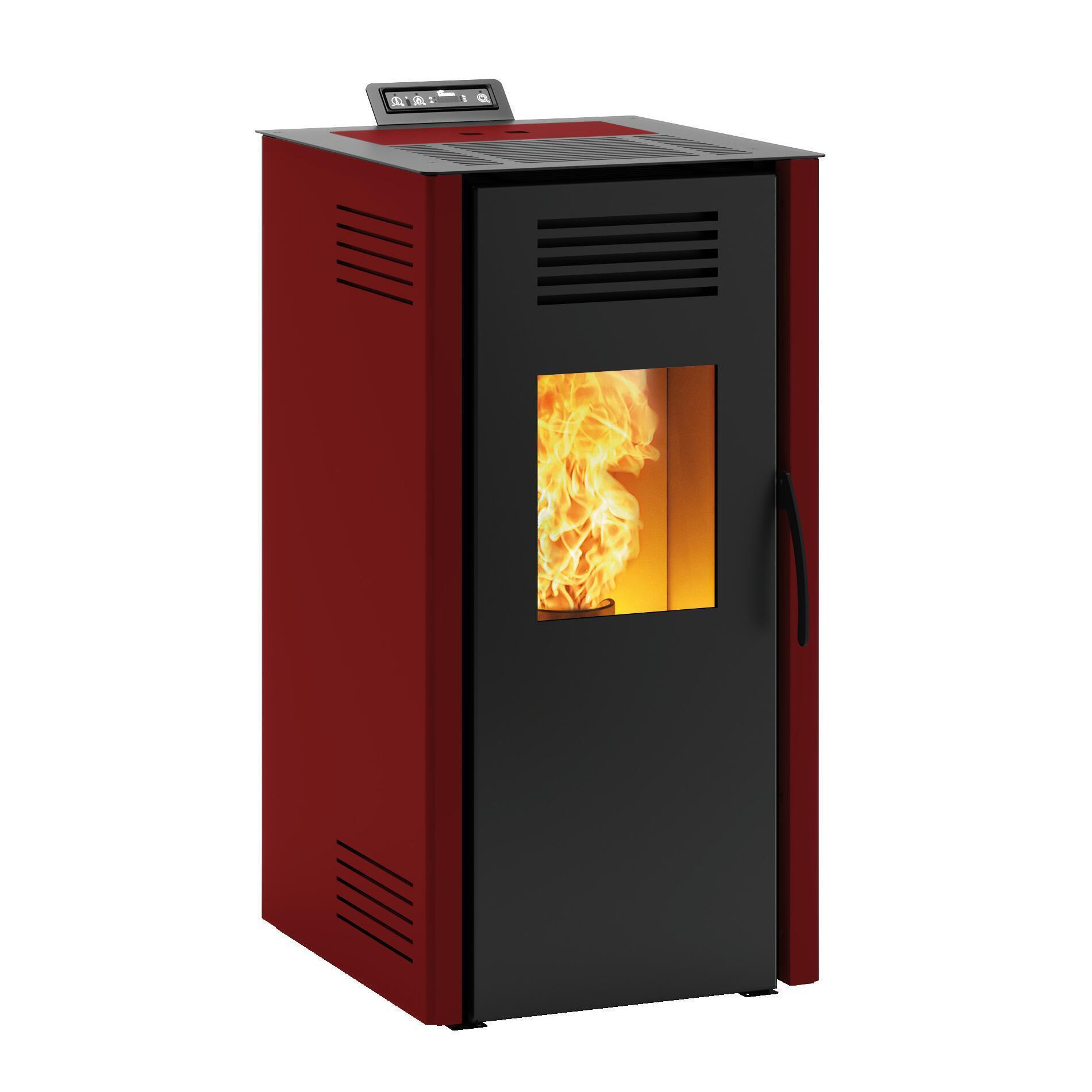 Stufa a pellet ventilata Vieste 7.3 kW bordeaux - 3