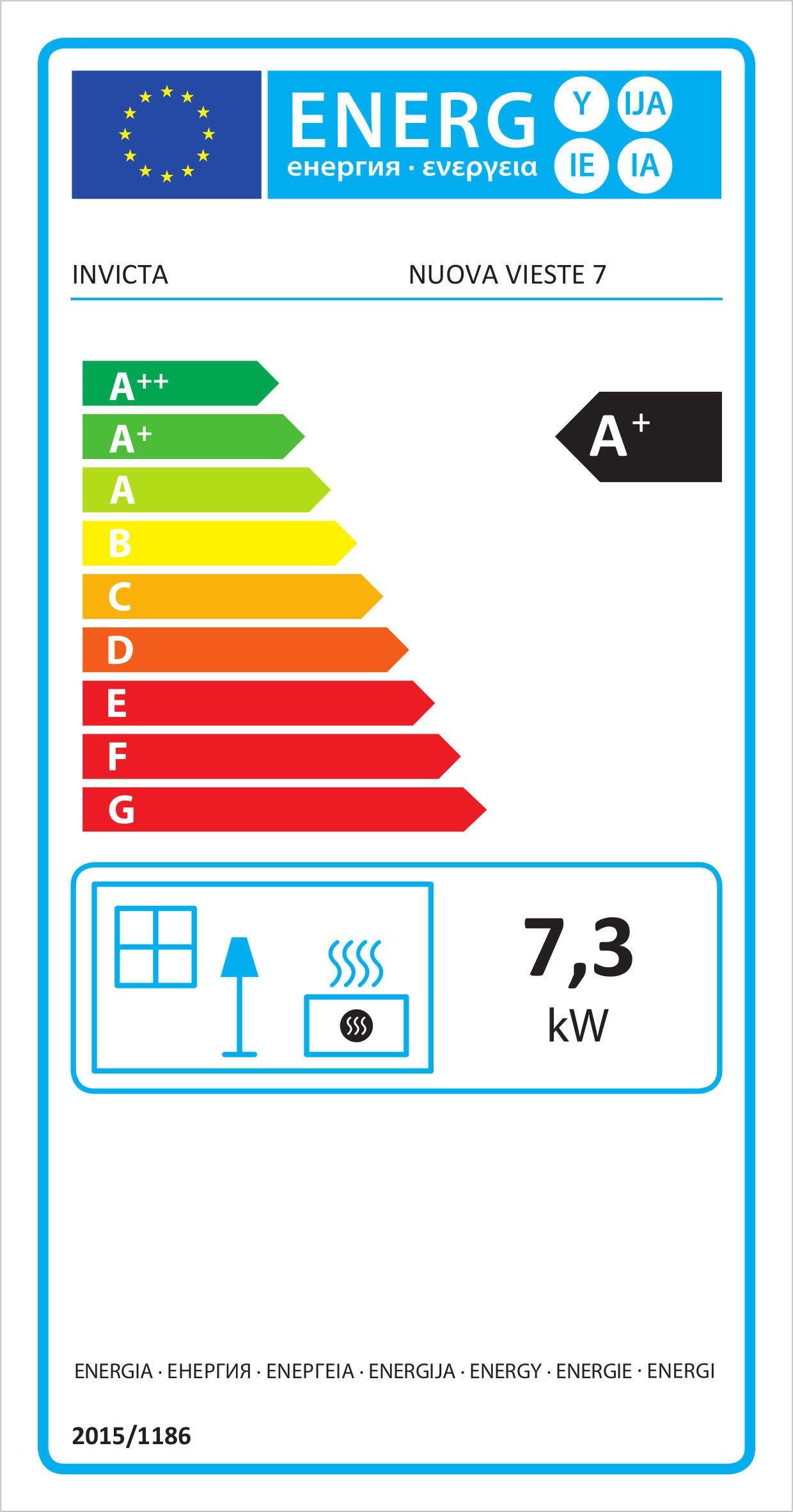 Stufa a pellet ventilata Vieste 7.3 kW bordeaux - 2