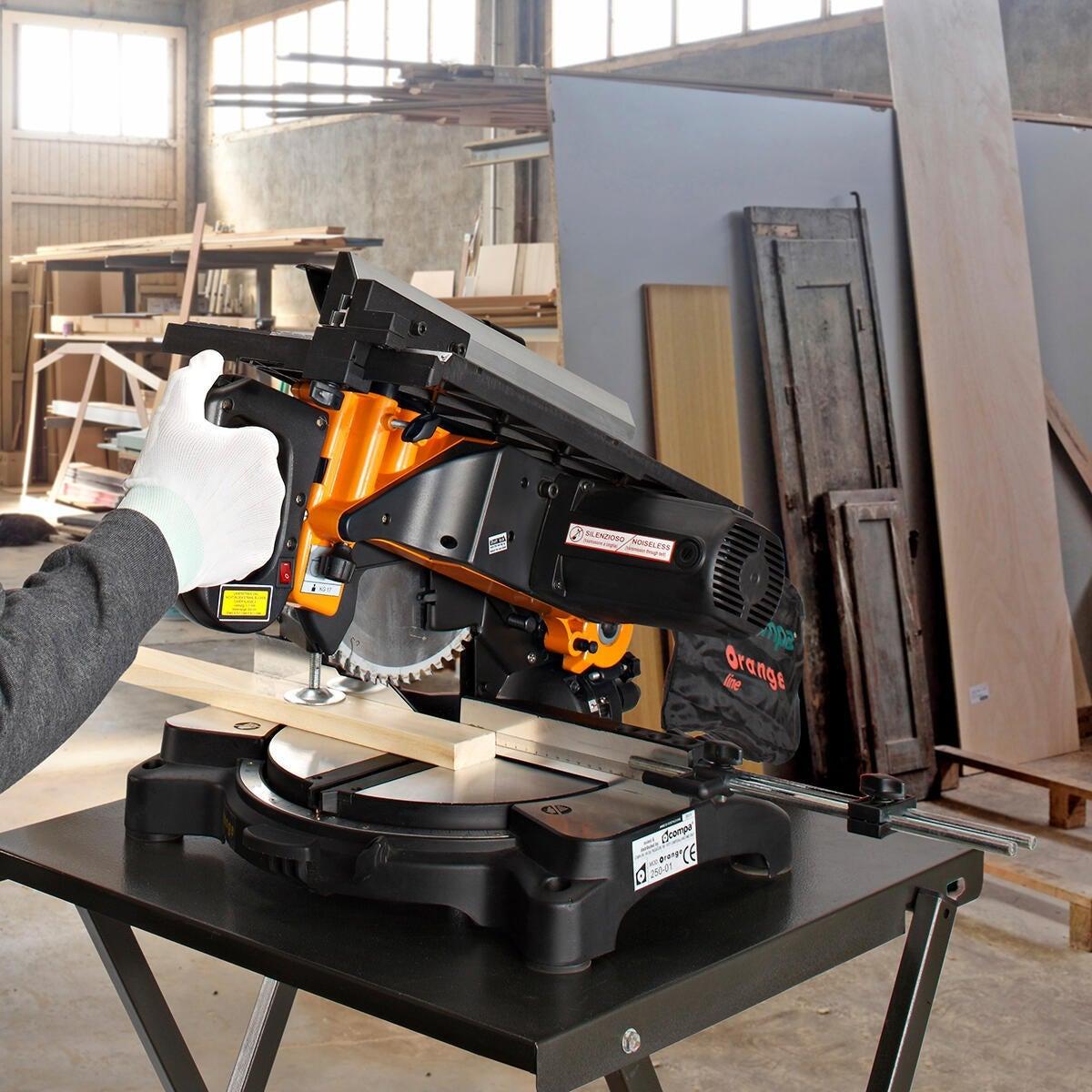 Troncatrice con pianetto COMPA ORANGE 250 Ø 250 mm 1600 W 4800 giri/mm - 3