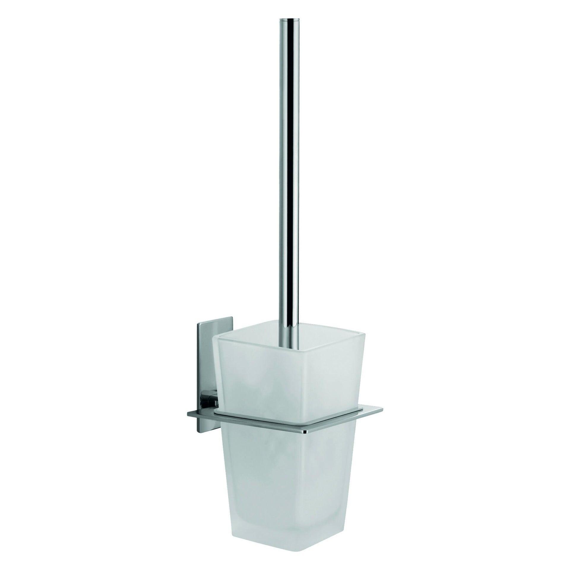 Porta scopino wc a muro Class in vetro grigio
