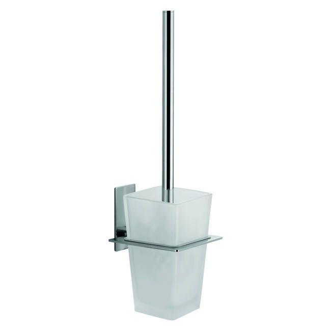 Porta scopino wc a muro Class in vetro grigio - 1