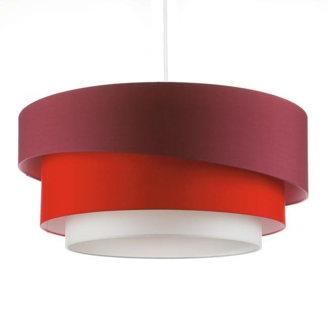 Lampadario Moderno Triplo bianco, rosso , D. 60 cm - 1
