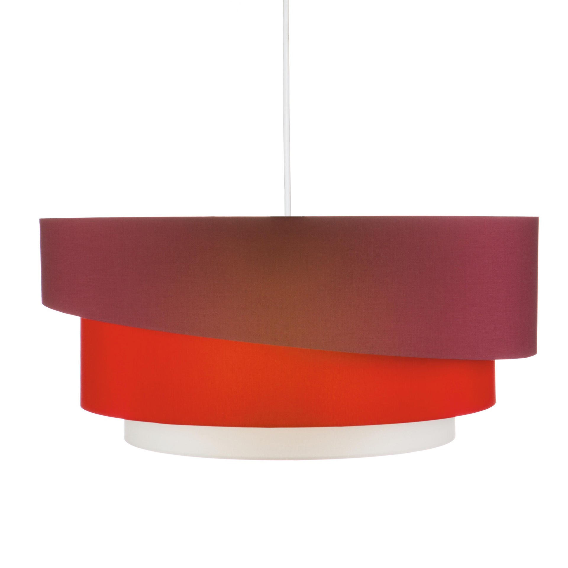 Lampadario Moderno Triplo bianco, rosso , D. 60 cm - 7
