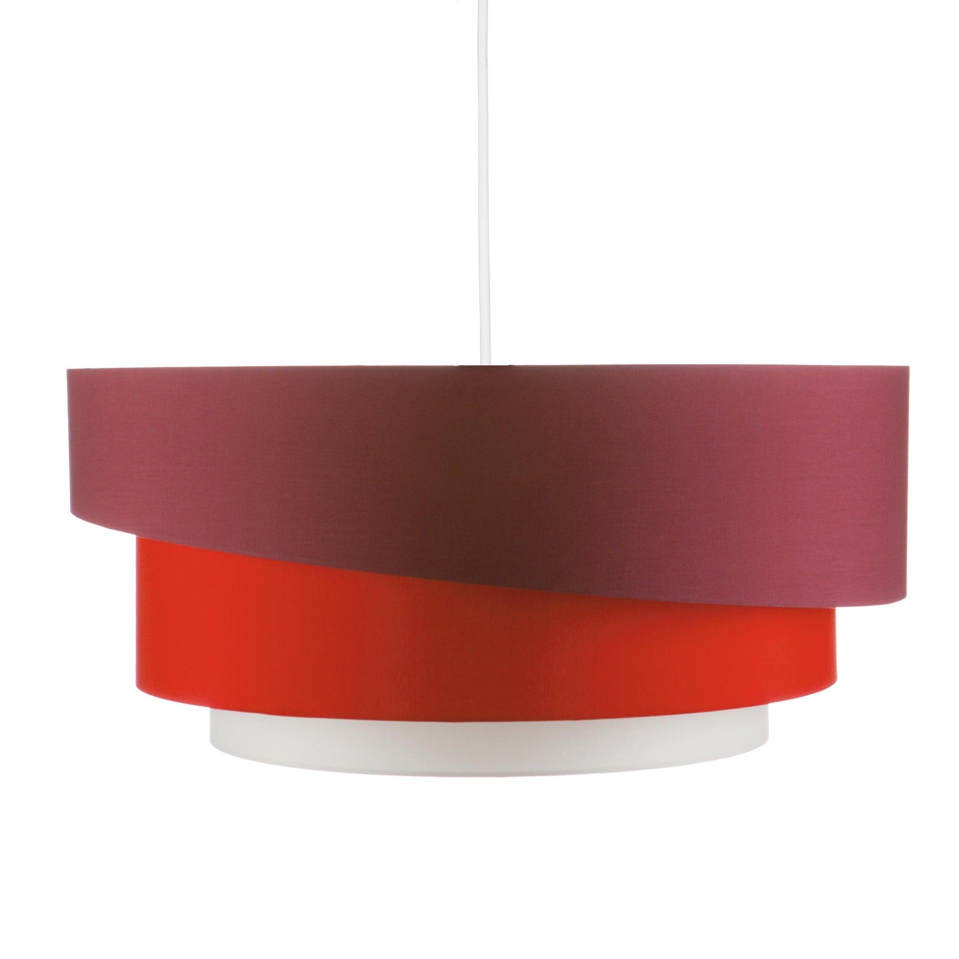 Lampadario Moderno Triplo bianco, rosso , D. 60 cm - 8