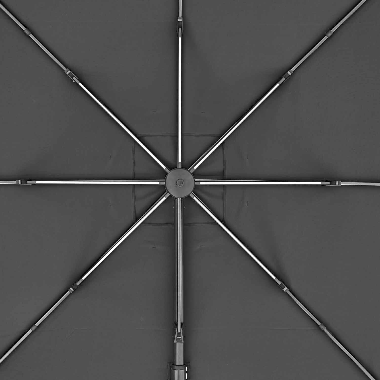 Ombrellone NATERIAL Sonora L 2.82 x P 3.91 m color grigio - 13