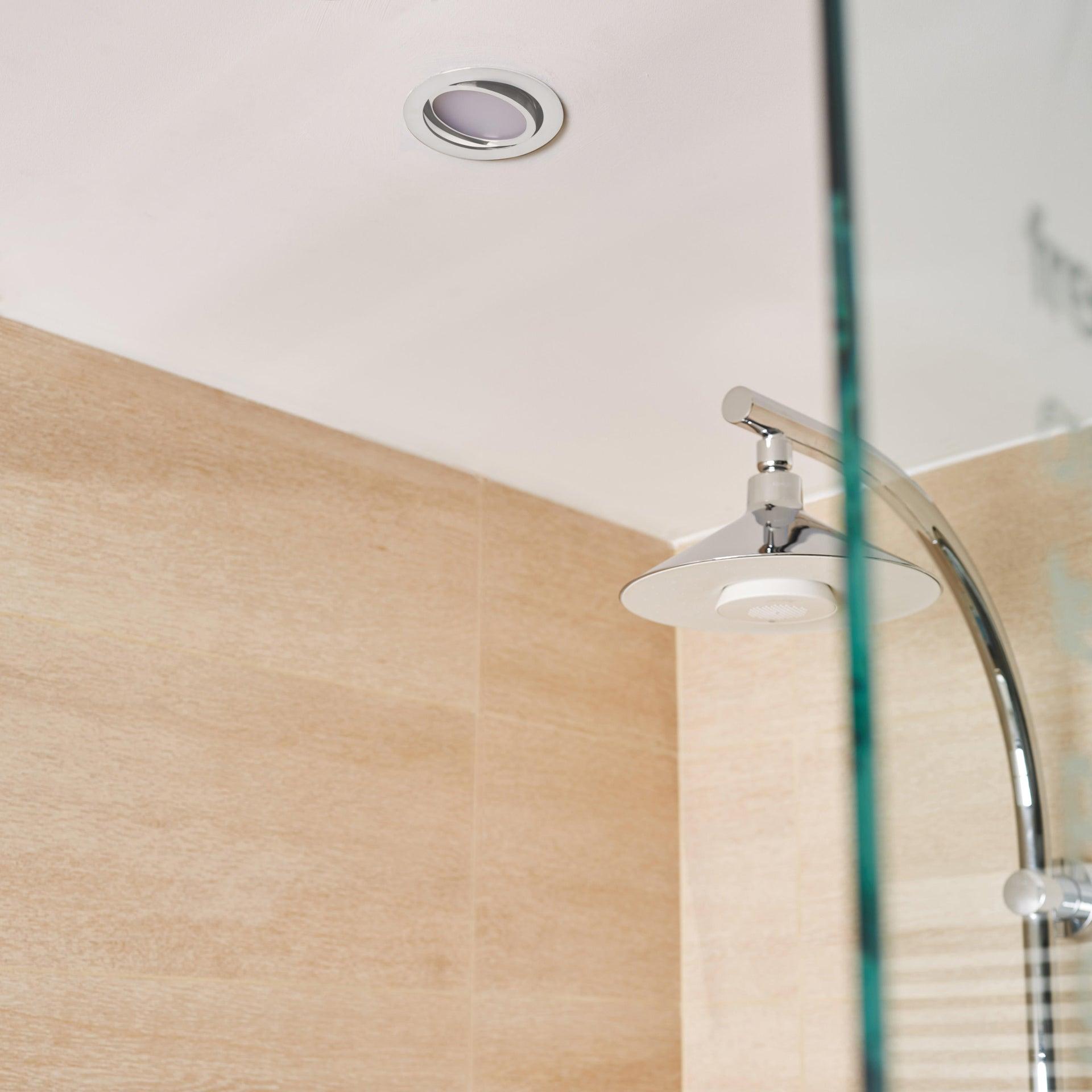 Faretto orientabile da incasso tondo Lindi in Alluminio bianco, diam. 9 cm LED integrato 500LM IP65 INSPIRE - 4