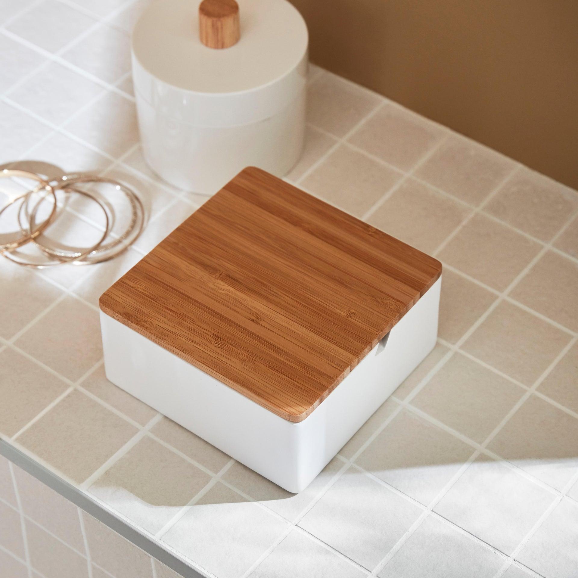 Porta cotone Scandi in plastica bianco SENSEA - 4
