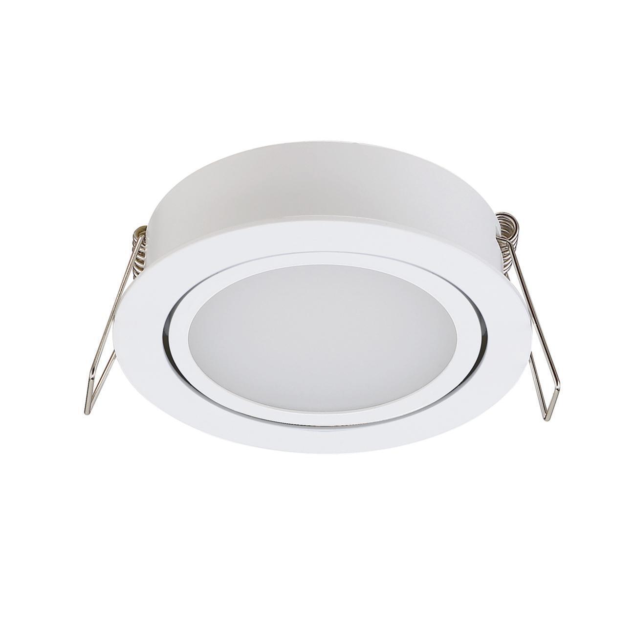 Faretto orientabile da incasso tondo Lindi in Alluminio bianco, diam. 9 cm LED integrato 500LM IP65 INSPIRE - 11