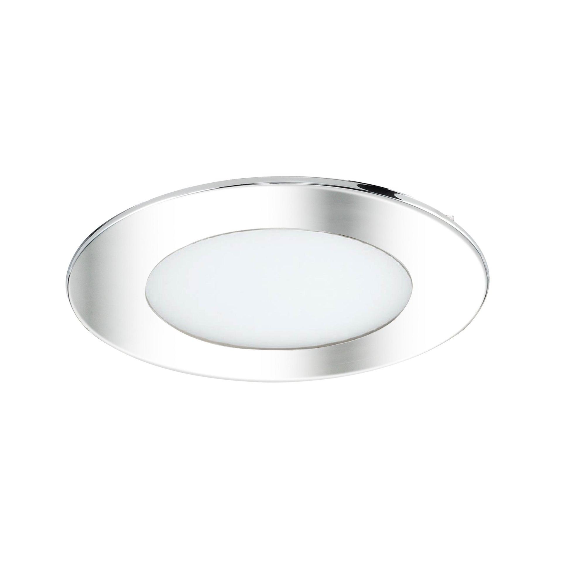 Faretto fisso da incasso tondo Ex.bath in Alluminio nichel, diam. 12 cm LED integrato 900LM IP44 INSPIRE - 3