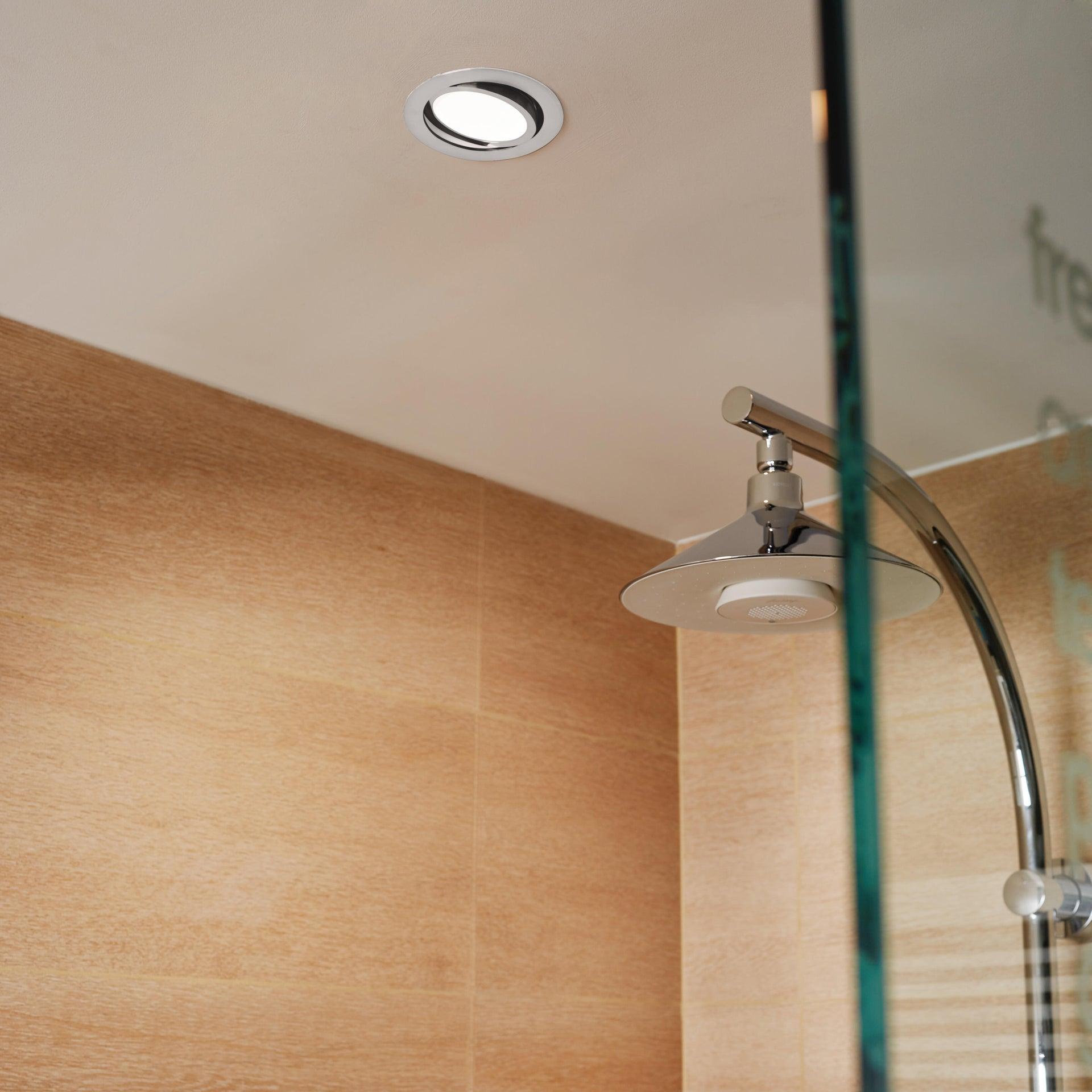Faretto orientabile da incasso tondo Lindi in Alluminio bianco, diam. 9 cm LED integrato 500LM IP65 INSPIRE - 12