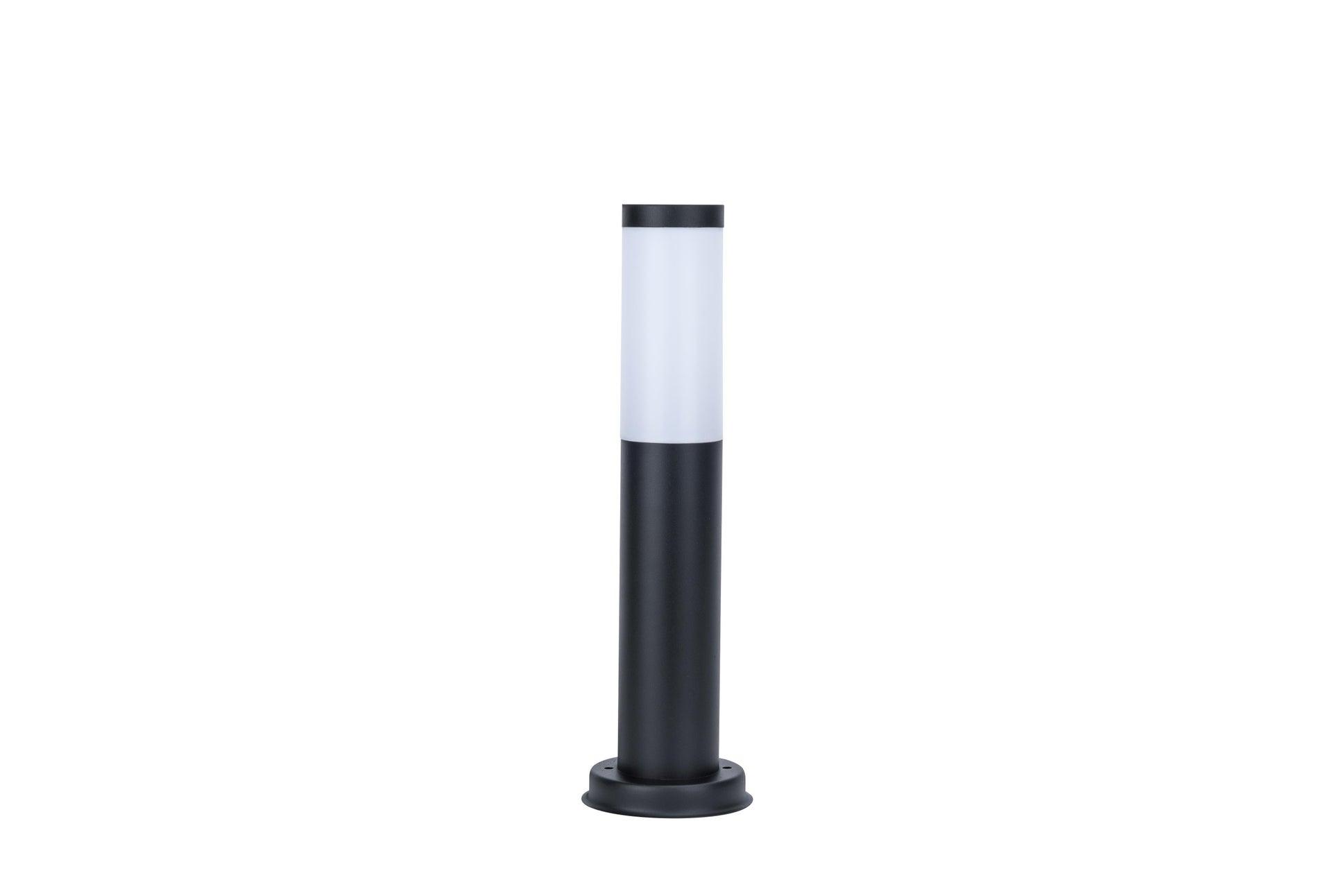 Lampione Travis H45.0 cm in acciaio inossidabile, nero, E27 1x MAX 15W IP44 INSPIRE - 6