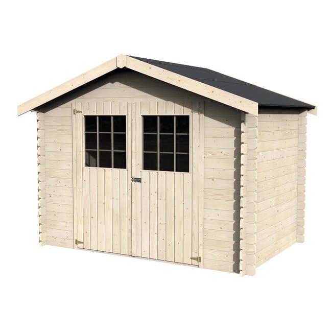 Casetta da giardino in legno Flosova, superficie interna 4.7 m² e spessore parete 28 mm - 1