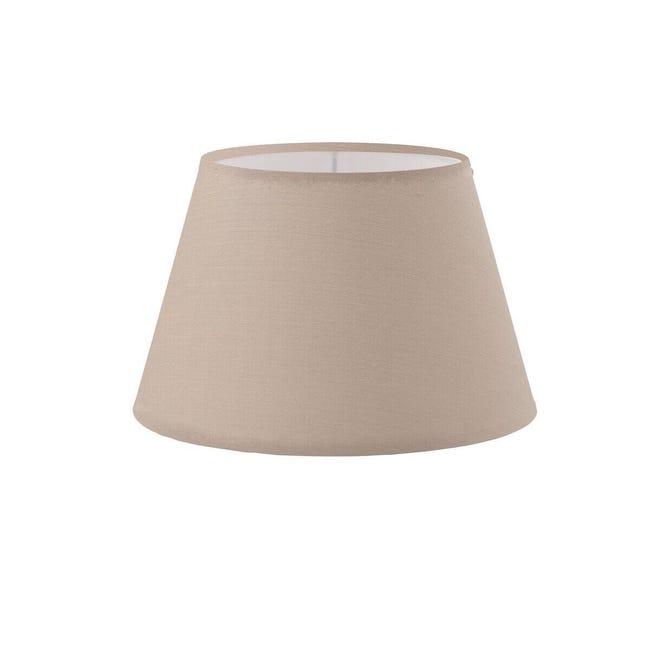Paralume per lampada da tavolo personalizzabile Ø 14 cm tortora in teletta Inspire - 1