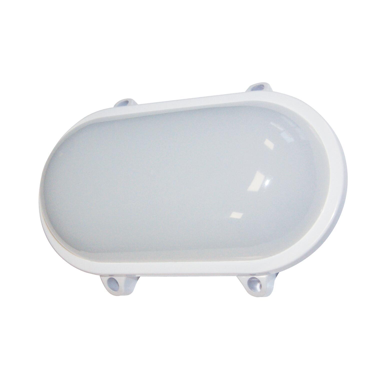 Plafoniera Ovale LED integrato in alluminio, bianco, 6W 45LM IP65 - 1