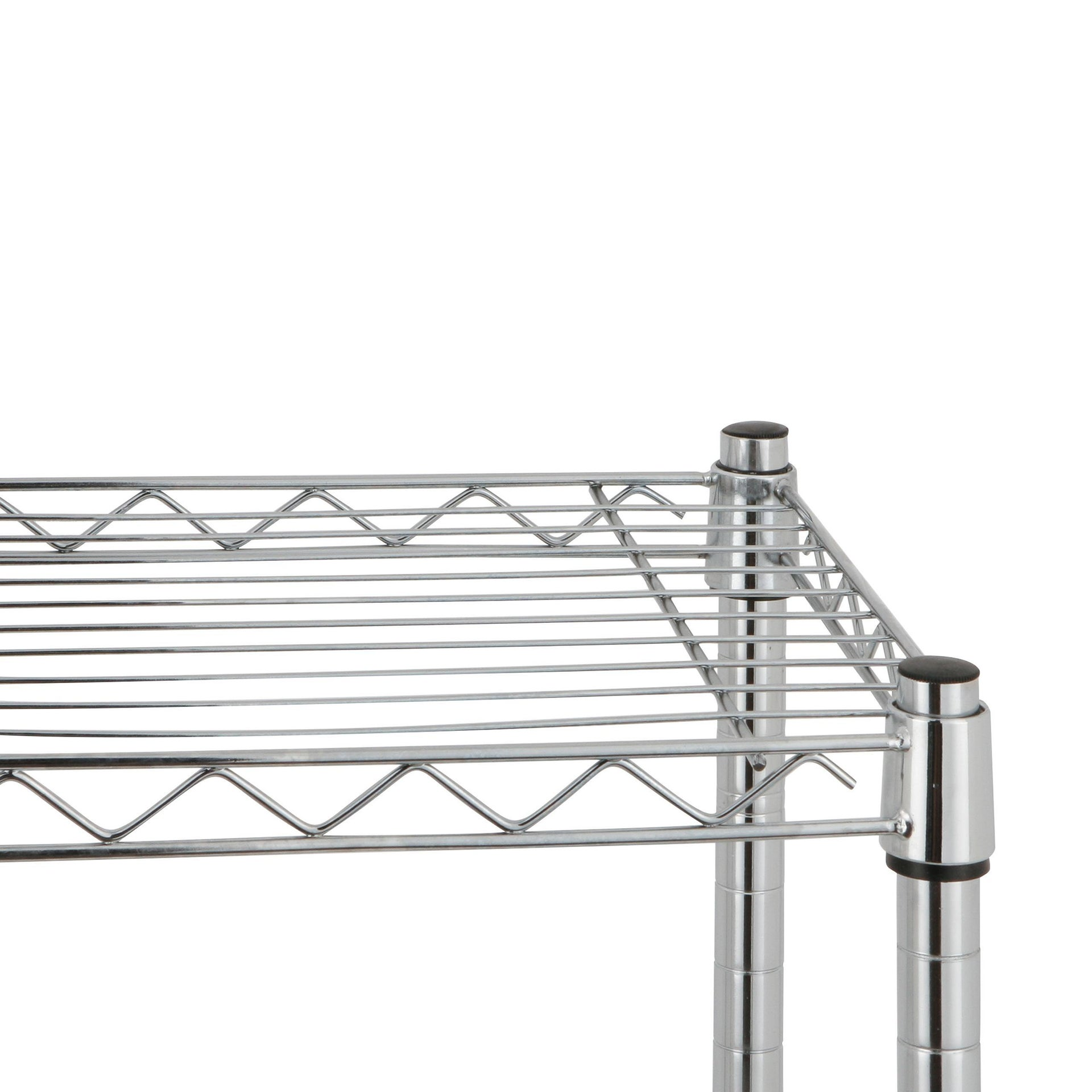 Scaffale in metallo Spaceo Chrome Style+ L 90 x P 35 x H 178 cm - 3