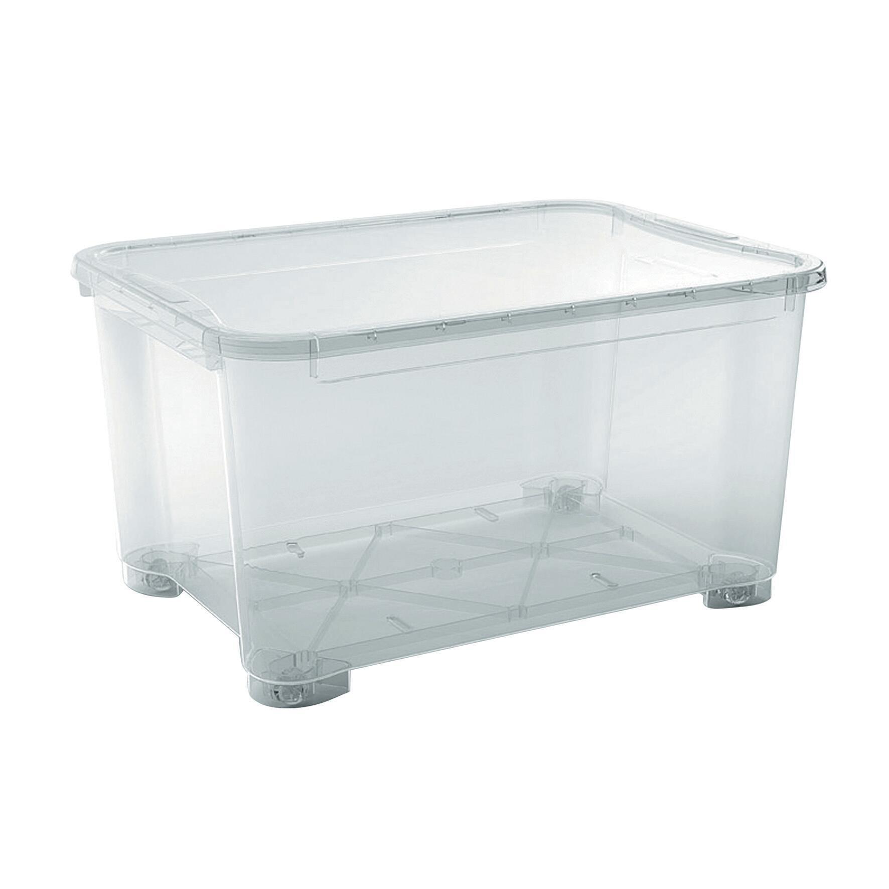 Contenitore T-box L 79.5 x H 43.5 x P 58 cm trasparente