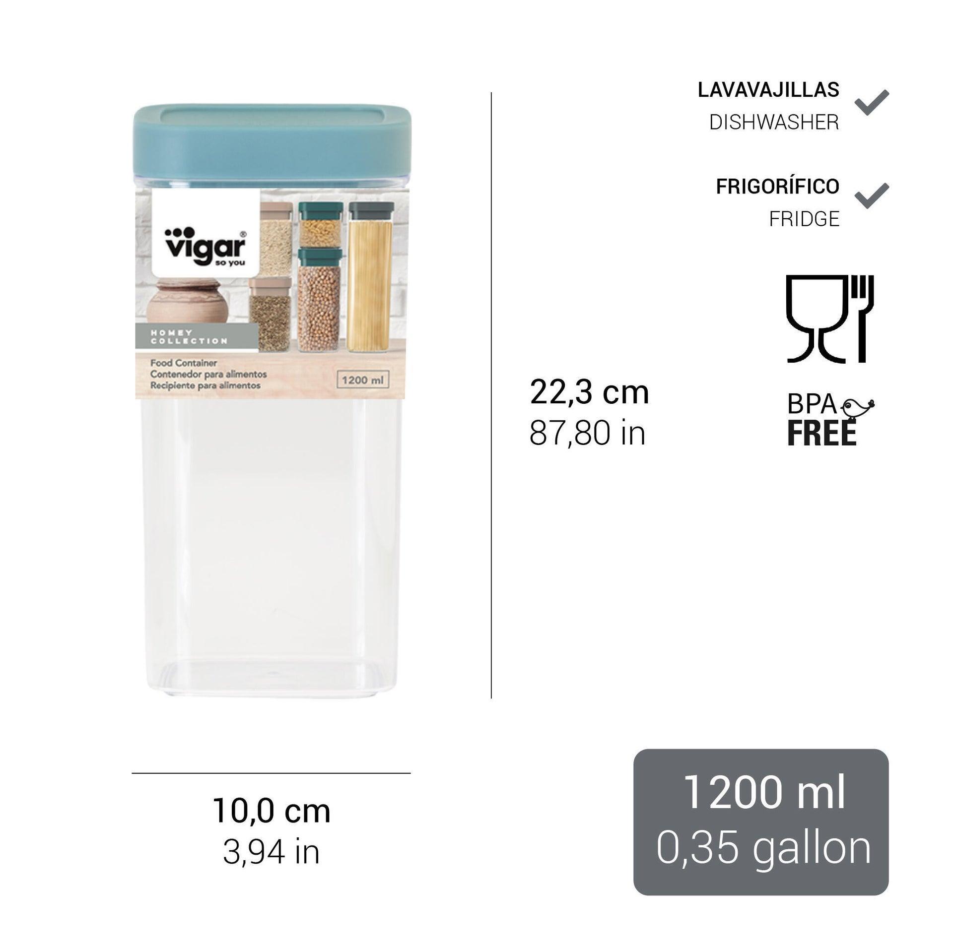 Contenitore da cucina in plastica 1.2 L - 4