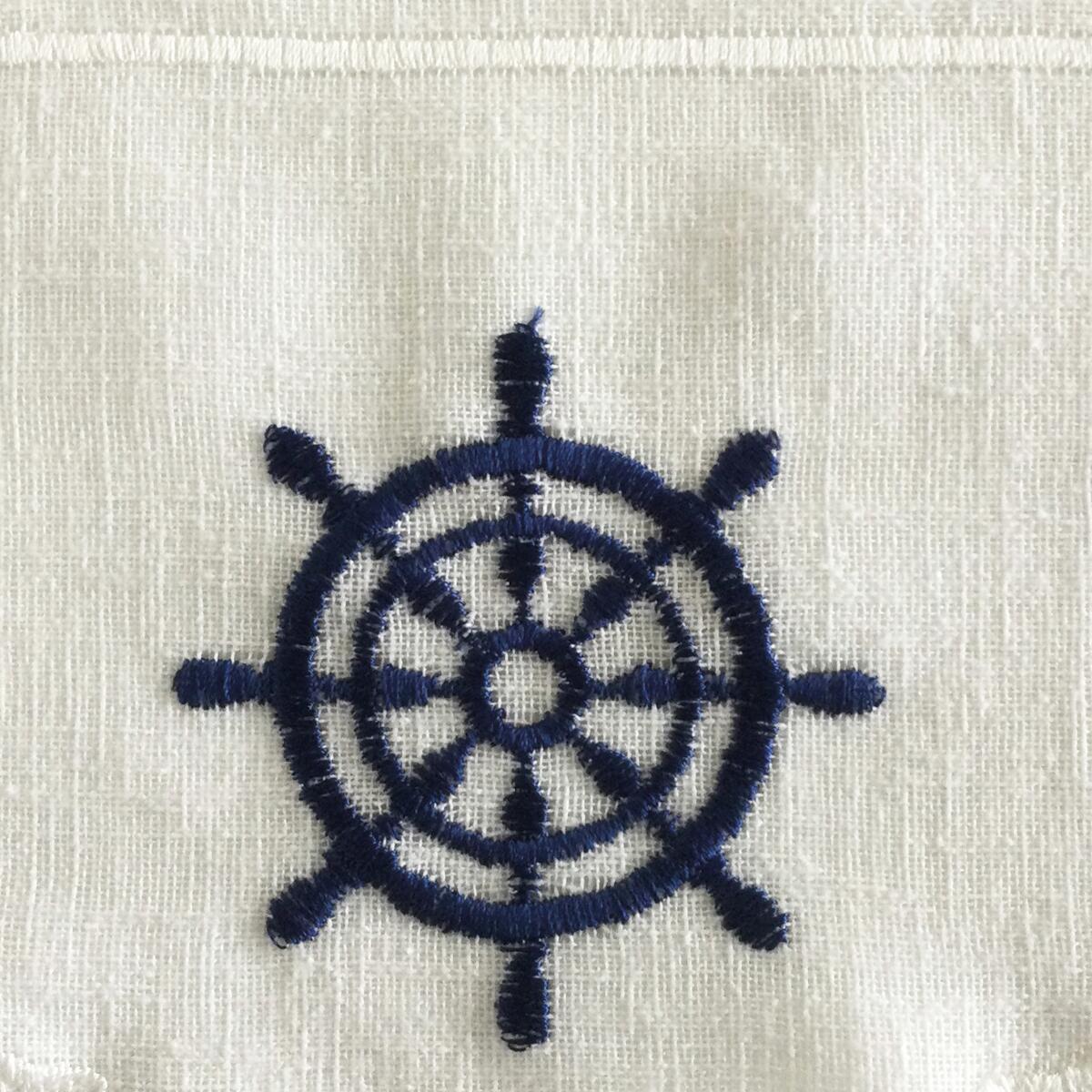 Tessuto al taglio Tirolese blu 0.01 cm - 3