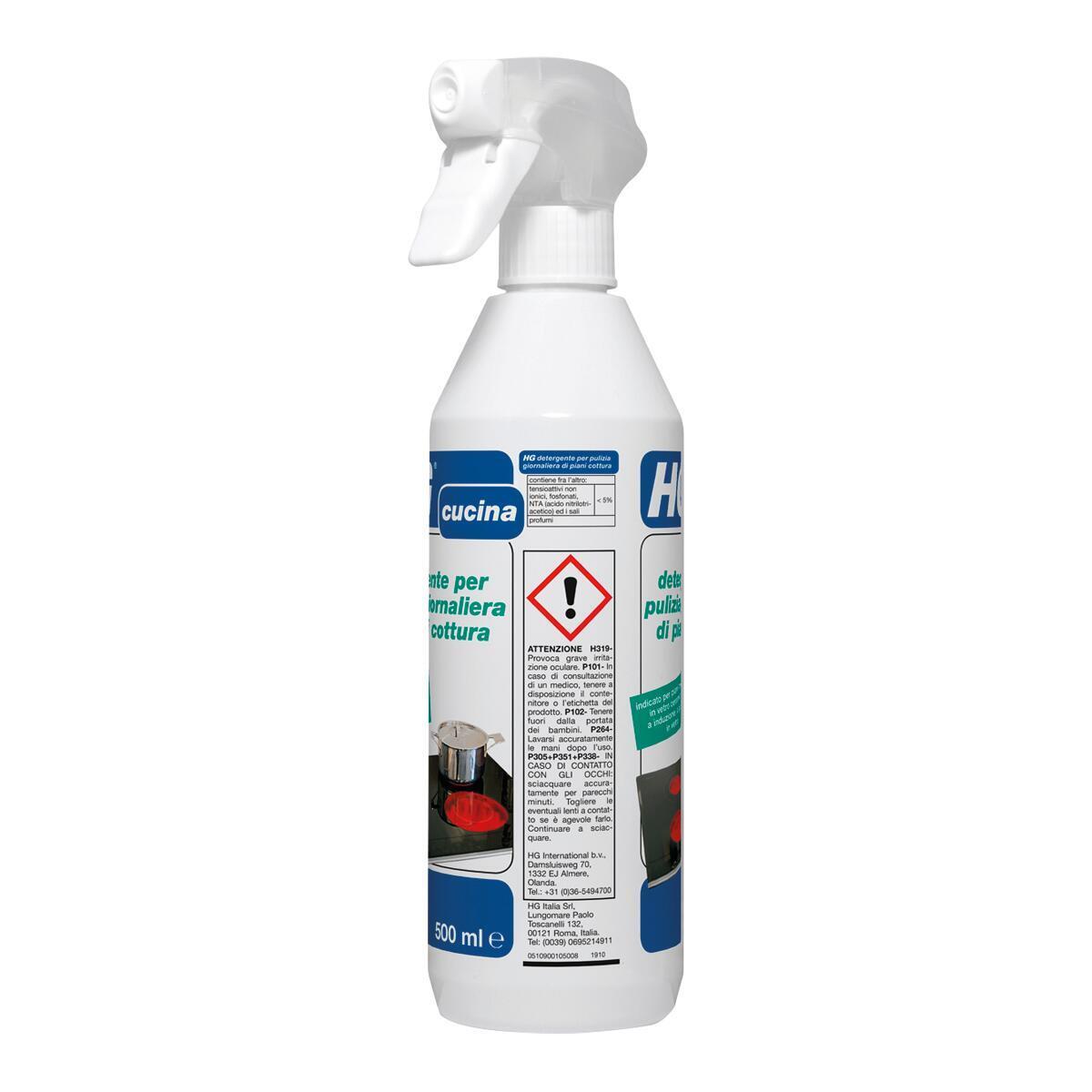 Detergente HG per vetroceramica piastra a induzione 0,5 lt - 5