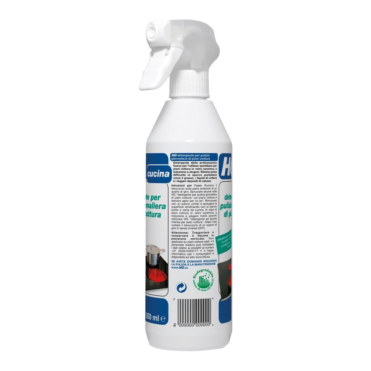 Detergente HG per vetroceramica piastra a induzione 0,5 lt - 4