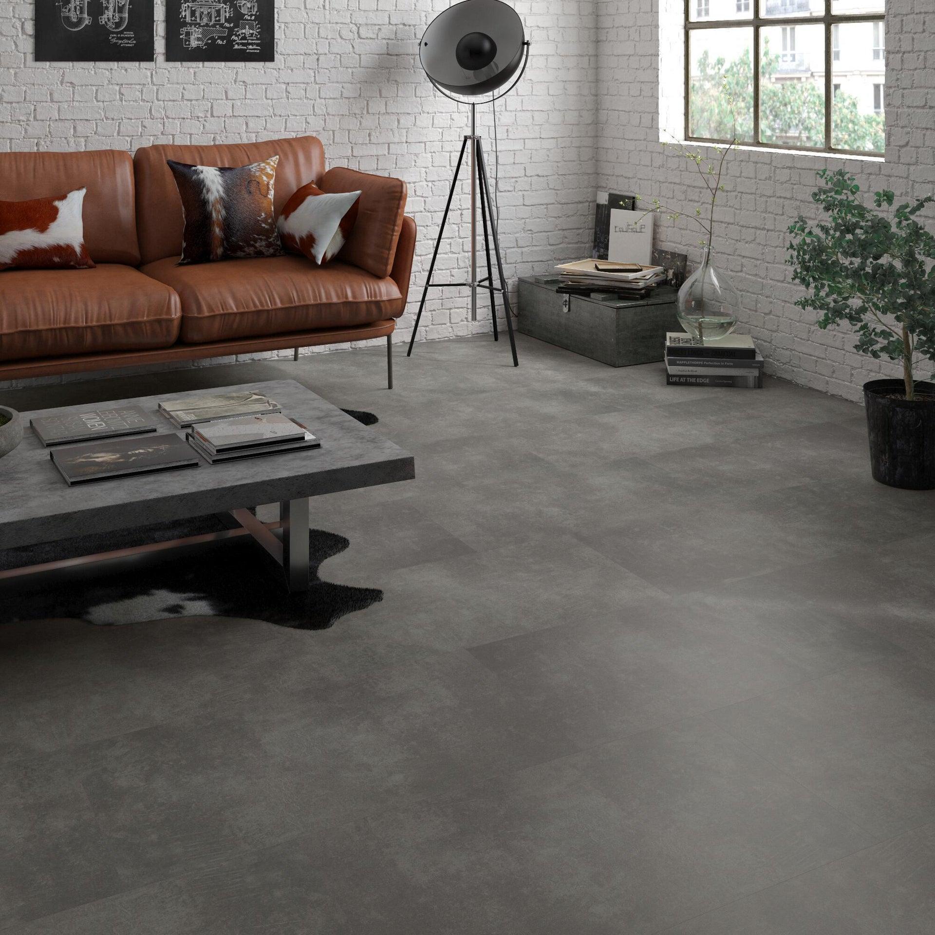 Pavimento PVC incastro Tolu Sp 4 mm grigio / argento - 9