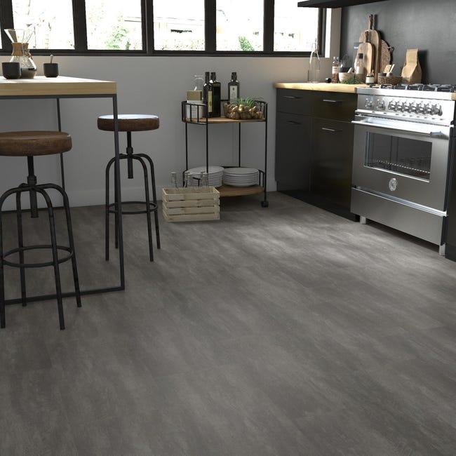 Pavimento PVC incastro Tolu Sp 4 mm grigio / argento - 1