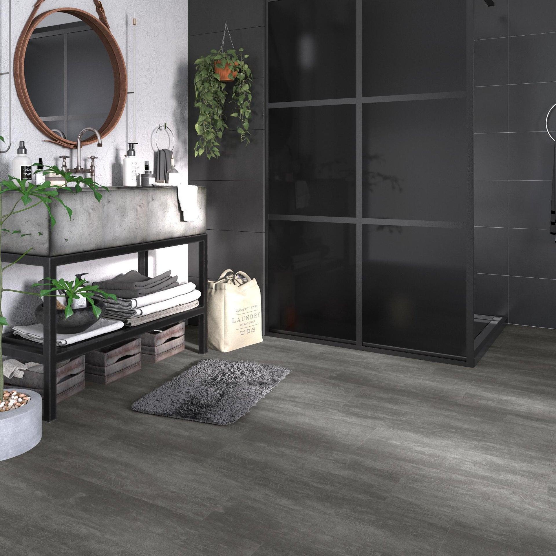 Pavimento PVC incastro Tolu Sp 4 mm grigio / argento - 14