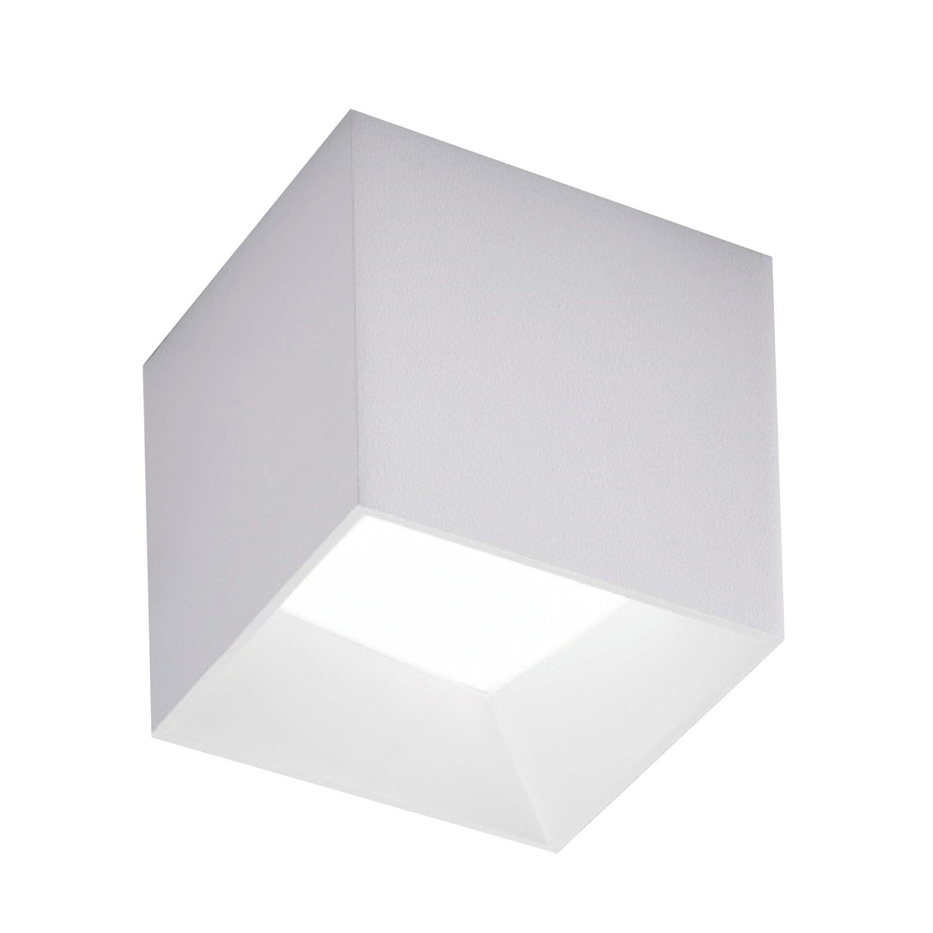 Plafoniera design Cube LED integrato bianco10.5x10.5 cm, - 1